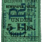 (I.B) Caledonian Railway (South) : Newspaper Parcel 5lbs