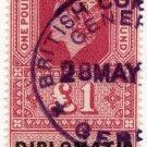(I.B) Elizabeth II Revenue : Diplomatic Service £1 (Genoa)