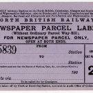 (I.B) North British Railway : Newspaper Parcel Way-Bill 2d