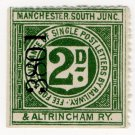 (I.B) Manchester, South Junction & Altrincham Railway : Letter Stamp 2d