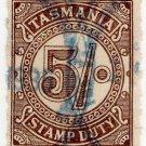 (I.B) Australia - Tasmania Revenue : Stamp Duty 5/- (1931)