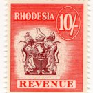 (I.B) Rhodesia Revenue : Duty Stamp 10/-