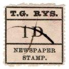 (I.B) Australia - Tasmania Railways : Newspaper Parcel 1d