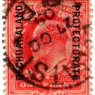 (I.B) Bechuanaland Protectorate Postal : 1d Red