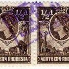 (I.B) Northern Rhodesia Revenue : Duty Stamp 1d (postal pair)