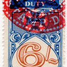 (I.B) Australia - Queensland Revenue : Impressed Duty 6/-