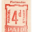 (I.B) Festiniog Railway : Parcel Stamp 4d (Portmadoc)