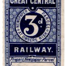 (I.B) Great Central Railway : Newspaper Parcel 3d