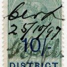 (I.B) QV Revenue : District Audit 10/- (1896)