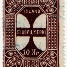 (I.B) Iceland Revenue : Duty Stamp 10Kr