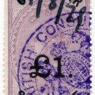 (I.B) QV Revenue : Consular Service £1