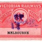 (I.B) Australia - Victoria Railways : Parcels 6d (Melbourne)
