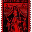 (I.B) Spain Cinderella : Denia Charity Stamp 5c (Civil War)