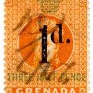 (I.B) Grenada Revenue : Duty Stamp 1d on 1½d OP