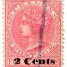 (I.B) Ceylon Postal : 2c Overprint (type 32)