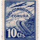 (I.B) Spain Cinderella : Civil War Charity Stamp 10c (Coruna)