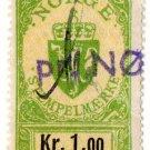 (I.B) Norway Revenue : Duty Stamp 1Kr