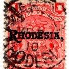(I.B) Rhodesia/BSAC Postal : 1d Red (Rhodesia OP)