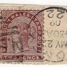 (I.B) Australia - NSW Revenue : Stamp Duty 2d (late postal use - Sydney)