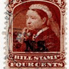 (I.B) Canada Revenue : Nova Scotia Bill Stamp 4c