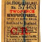 (I.B) Caledonian Railway : Newspaper Parcel 2d