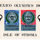 (I.B) Cinderella Collection : Isle of Stroma - Mexico Olympics Mini-Sheet
