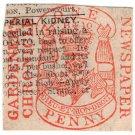 (I.B) George IV Revenue : Newspaper Duty 1d (Gardeners Chronicle)