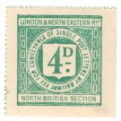 (I.B) London & North Eastern Railway (NBR section) : Letter Stamp 4d