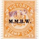 (I.B) Australia - Victoria Revenue : Stamp Duty 2d (MMBW overprint)