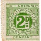 (I.B) Hull & Barnsley Railway : Letter Stamp 2d