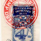 (I.B) Australia - Queensland Revenue : Impressed Duty 4/-