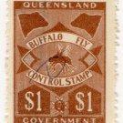(I.B) Australia - Queensland Revenue : Buffalo Fly $1
