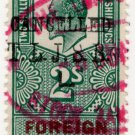 (I.B) Edward VII Revenue : Foreign Bill 2/- (London Joint Stock pre-cancel)