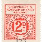(I.B) Shropshire & Montgomeryshire Railway : Letter Stamp 2d
