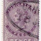 (I.B) QV Revenue : Judicature Fees 4d (1881)