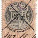 (I.B) Austria/Hungary Revenue : Stempelmarke 3Kr