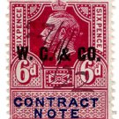 (I.B) George V Revenue : Contract Note 6d (WG & Co pre-cancel)