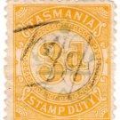 (I.B) Australia - Tasmania Revenue : Stamp Duty 3d (underprint)