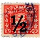 (I.B) Canada Revenue : Excise Duty 3/16c (½c overprint)