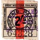 (I.B) Great Western Railway : Parcel Stamp 2/- (London - Regent Street)