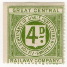 (I.B) Great Central Railway : Letter Stamp 4d