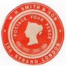 (I.B) QV Postal : Newspaper Wrapper - WH Smith & Son 4d (Advertising Ring)