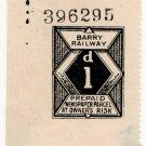 (I.B) Barry Railway : Newspaper Parcel 1d