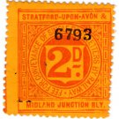 (I.B) Stratford-upon-Avon & Midland Junction Railway : Letter Stamp 2d