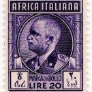 (I.B) Italy (African Colonies) Revenue : Marca da Bollo 20L