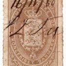 (I.B) Denmark Revenue : Duty Stamp 8sk
