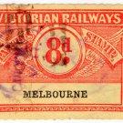 (I.B) Australia - Victoria Railways : Parcels 8d (Melbourne)