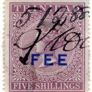 (I.B) Trinidad & Tobago Revenue : Fee 5/-