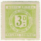 (I.B) North British Railway : Letter Stamp 3d