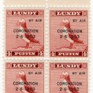 (I.B) Cinderella Collection : Lundy 4p (Coronation 1953 OP)
